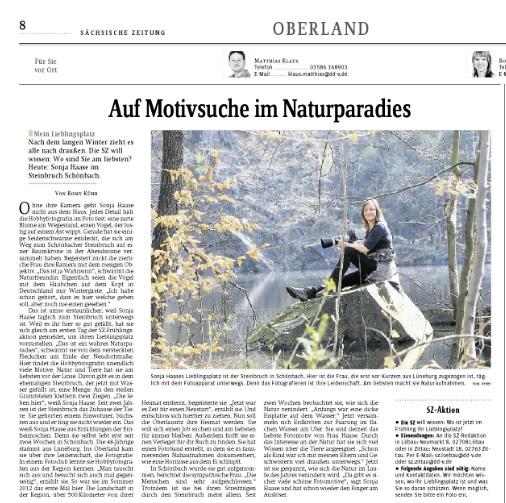 Auf Motivsuche im Naturparadies, 27.04.2013, sz