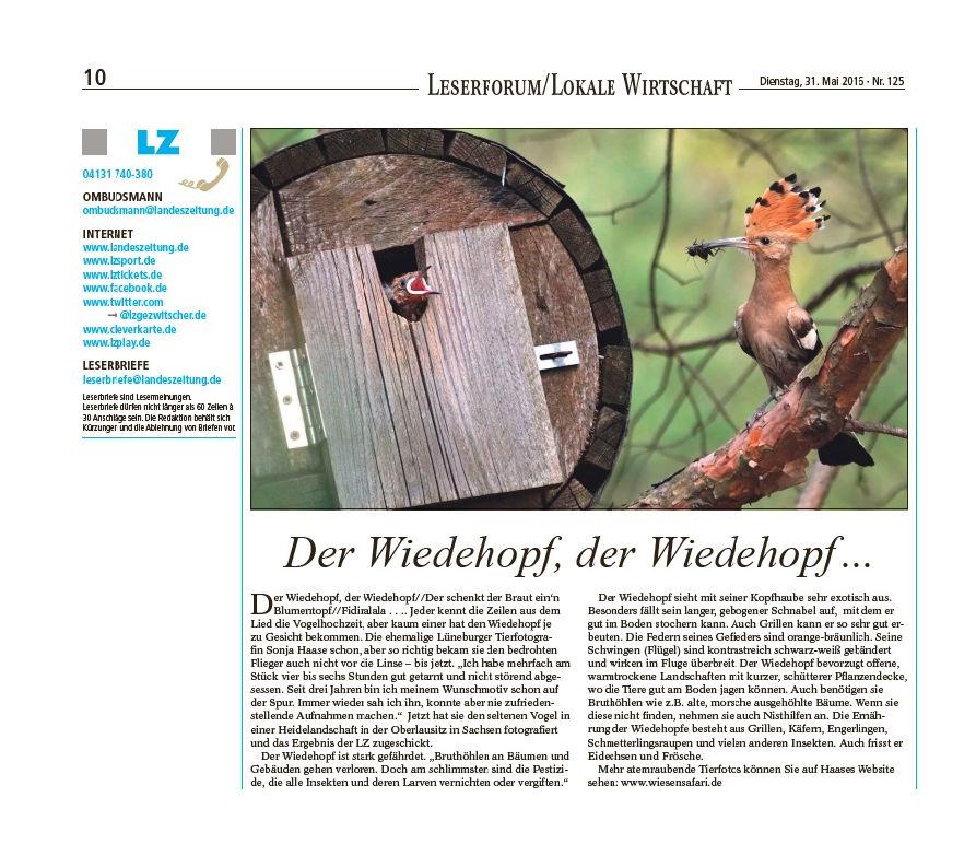 Artikel Landeszeitung LZ 31.05.2016
